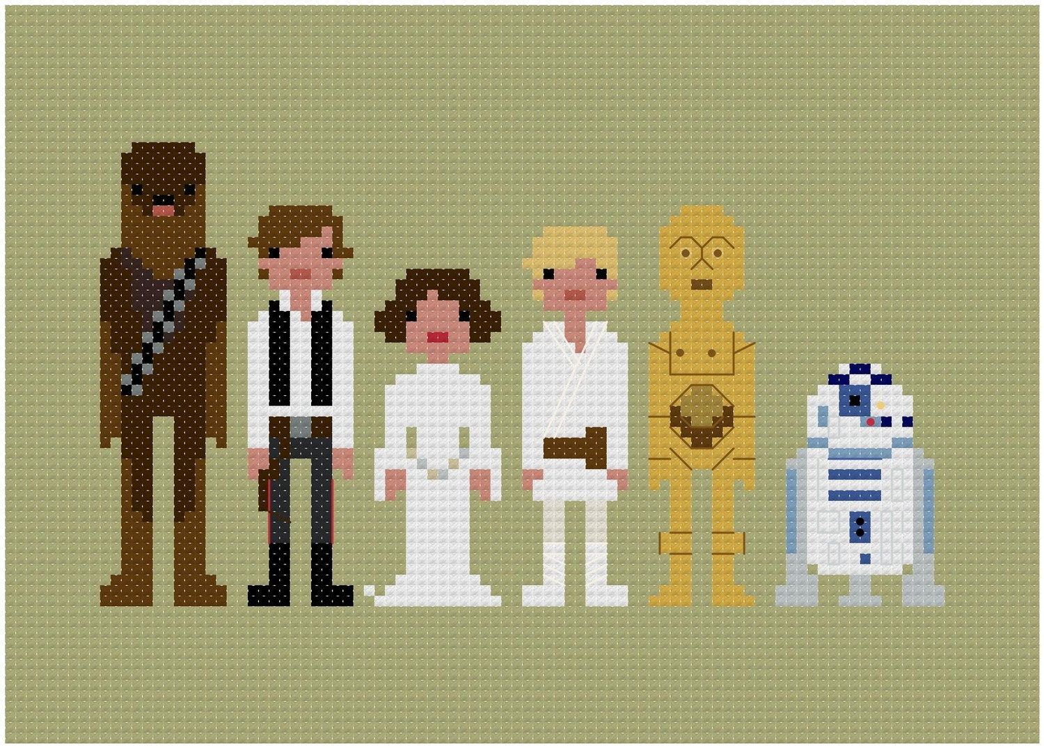 Pixel People - Star Wars - A New Hope - PDF Cross-stitch PATTERN