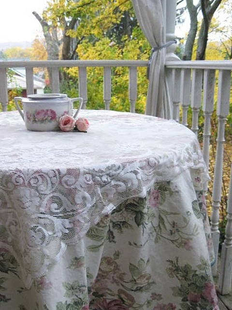 sale tablecloth shabby chic tablecloth roses by