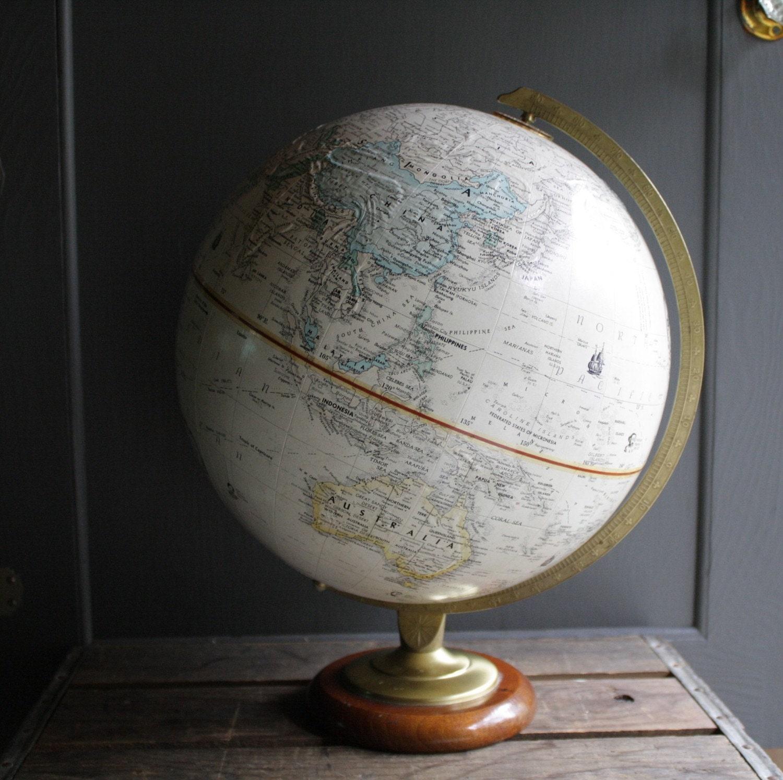 vintage replogle globemaster world globe