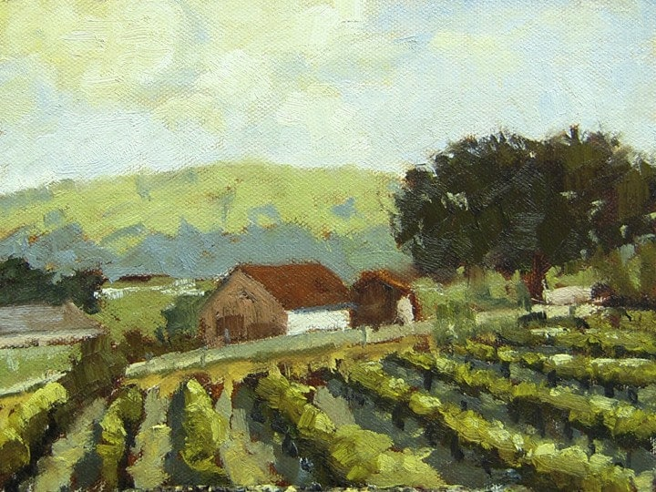 SALE - Sonoma Vineyard - Wine Country, California, Original Oil Painting