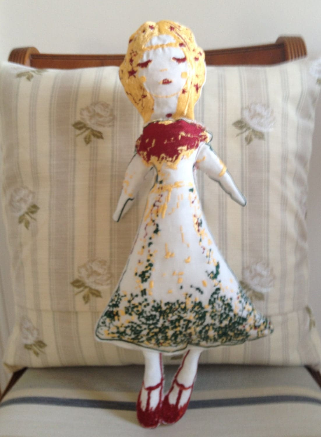 Bexy, Artistic Embroidery Rag Doll