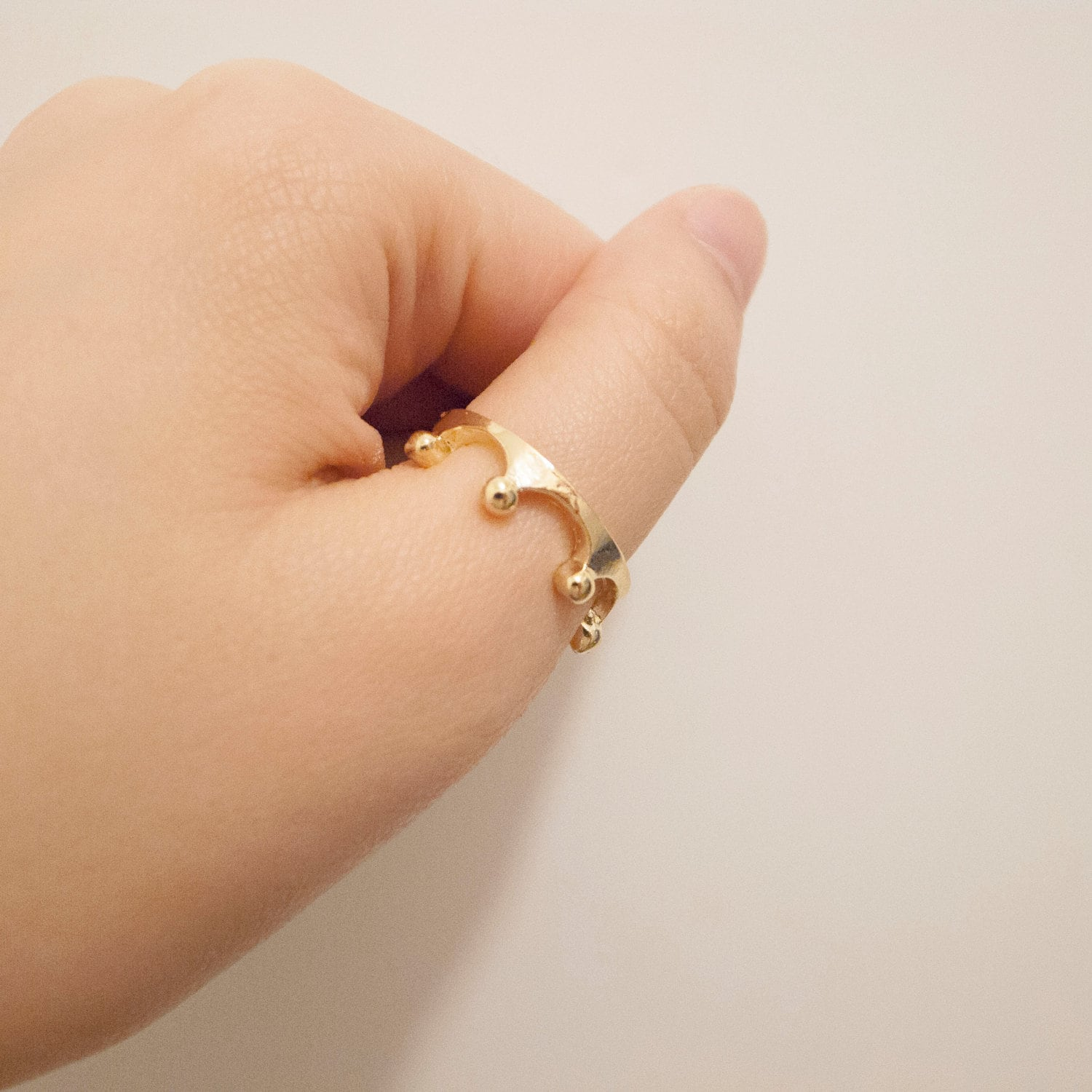 Gold / Silver Plated Crown Ring, thumb ring, crown necklace