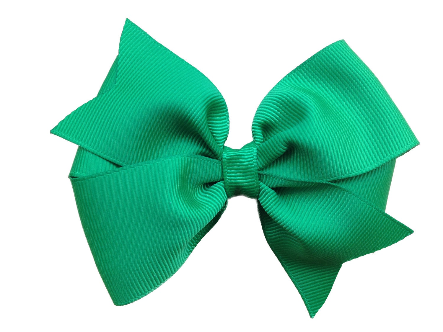 4 Inch Green Hair Bow Green Bow By Browneyedbowtique On Etsy
