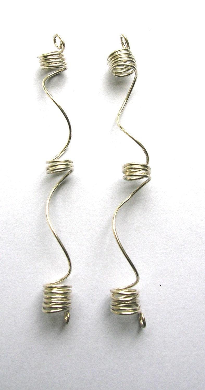 Items similar to One Pair Dreadlock, Sisterlocks Jewelry - Silver Lock ...