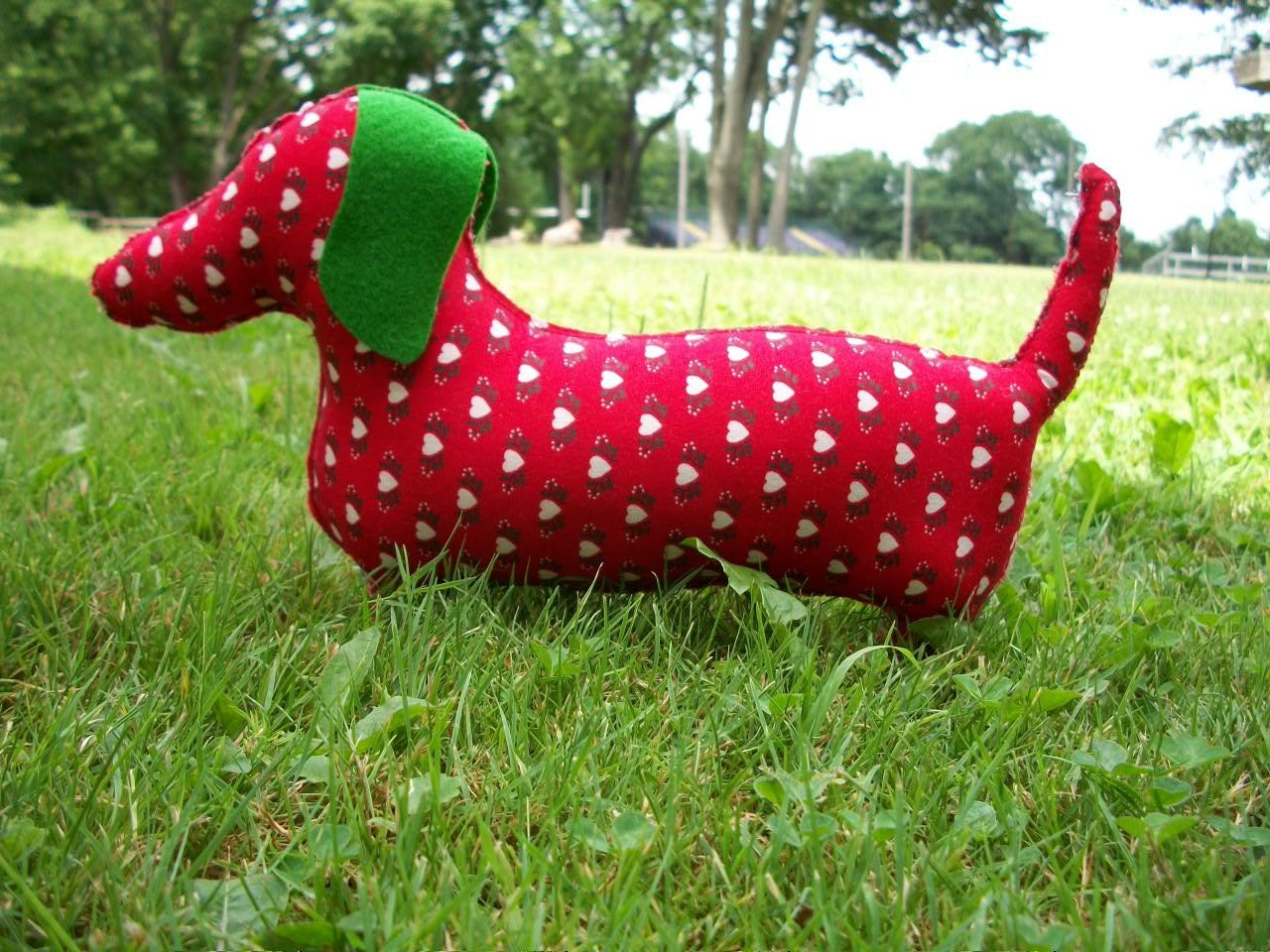 Plush Red Dachshund/ Holly