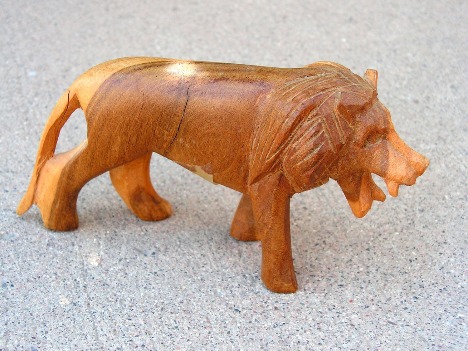 Items similar to vintage wood carving lion african animal