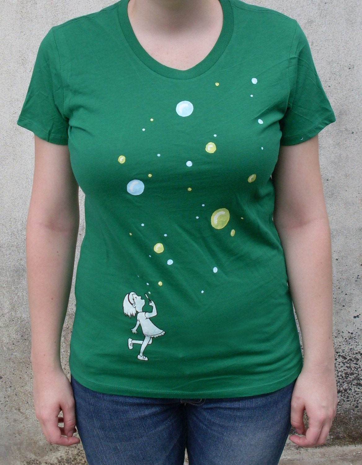 Bubbles - HAND PAINTED T-SHIRT