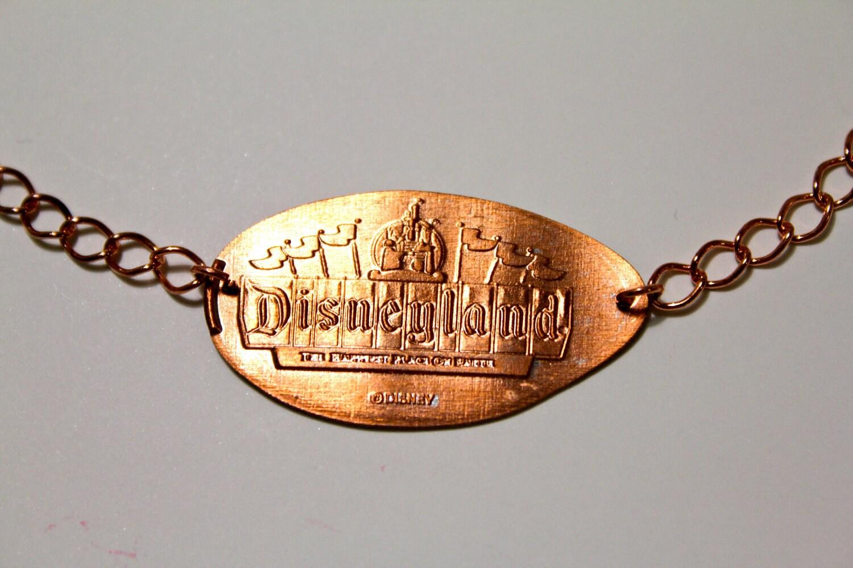 disneyland sign pressed bracelet by marylouisedesigns