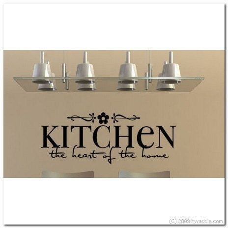 Kitchen The Heart Of The Home Vinyl Wall Lettering by itwaddle
