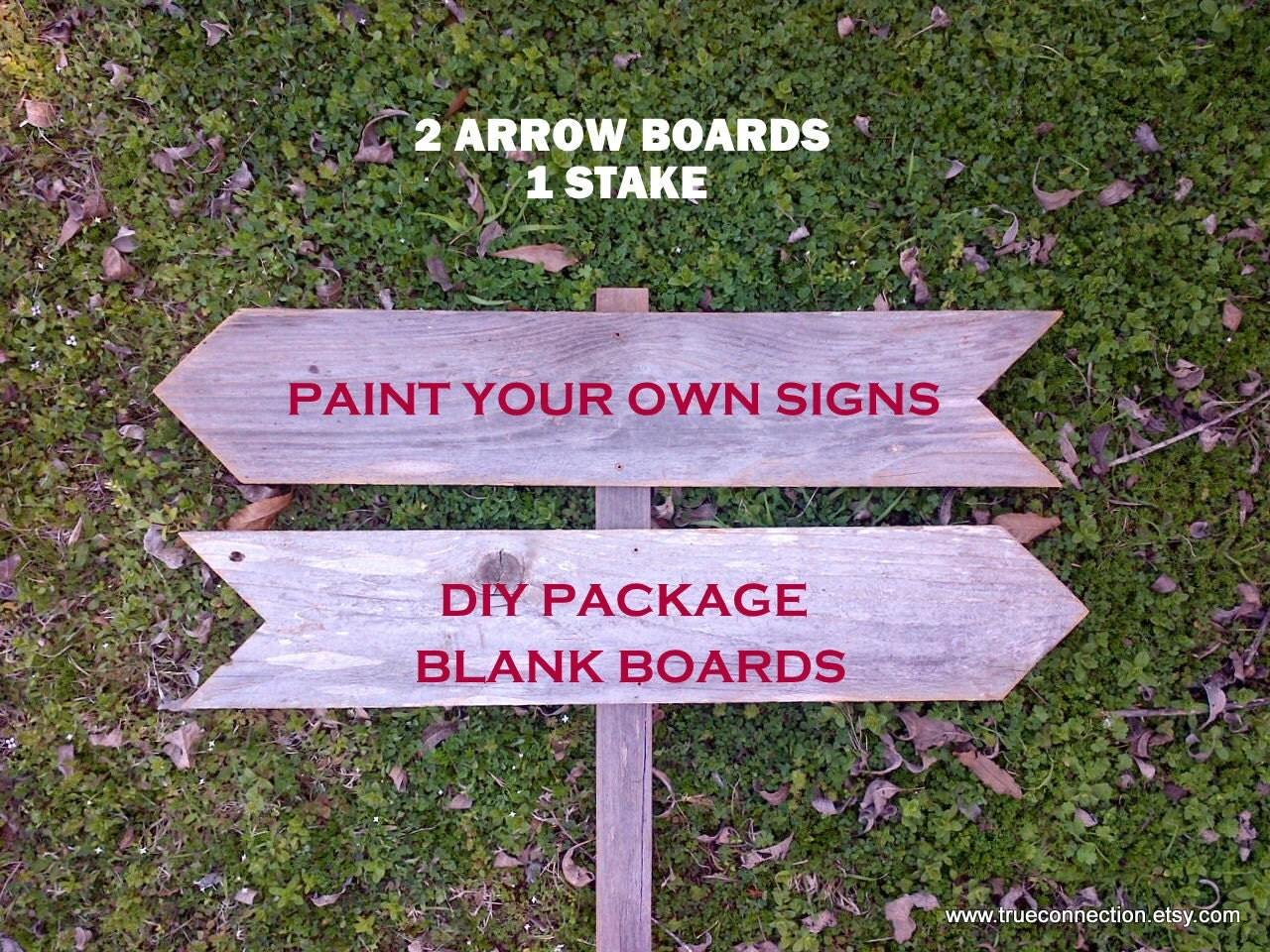 Do It Yourself Wedding Signs DIY Kit Wood Boards By TRUECONNECTION