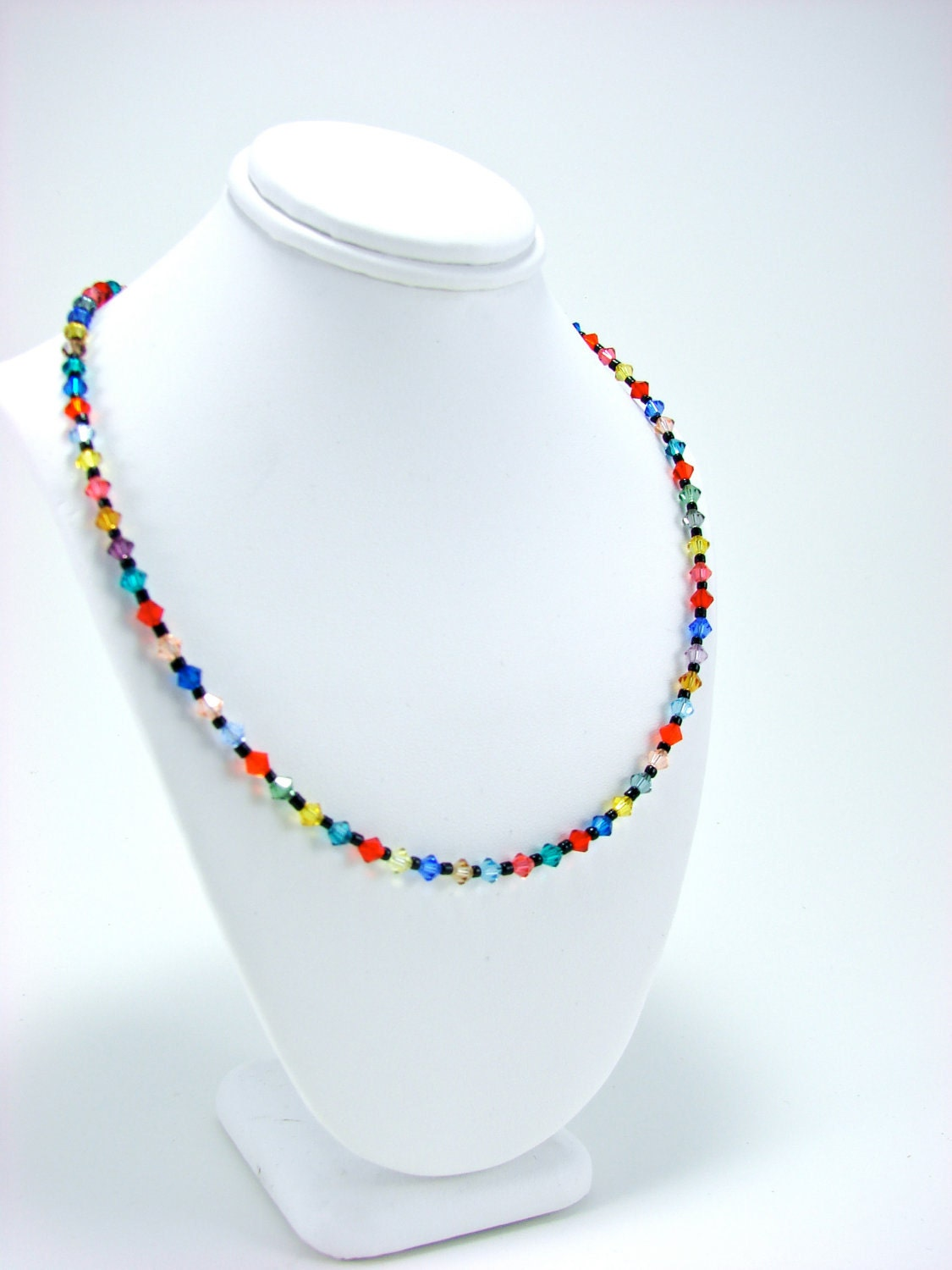 Summer Light Swarovski Crystal Necklace in Sterling Silver settings