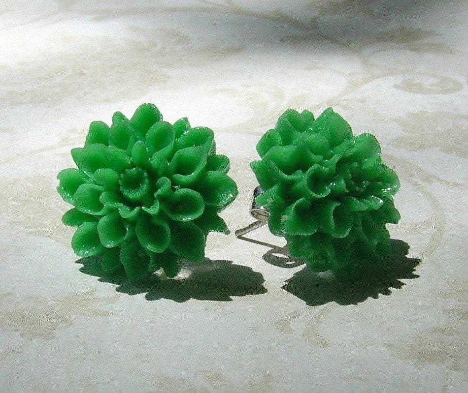 Go Green Flower Earrings