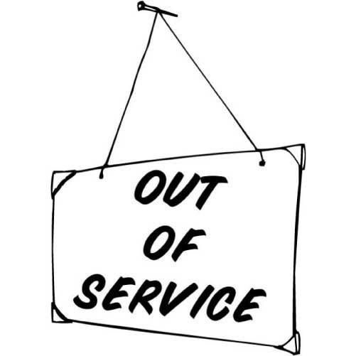Items similar to out of service funny sticker for your