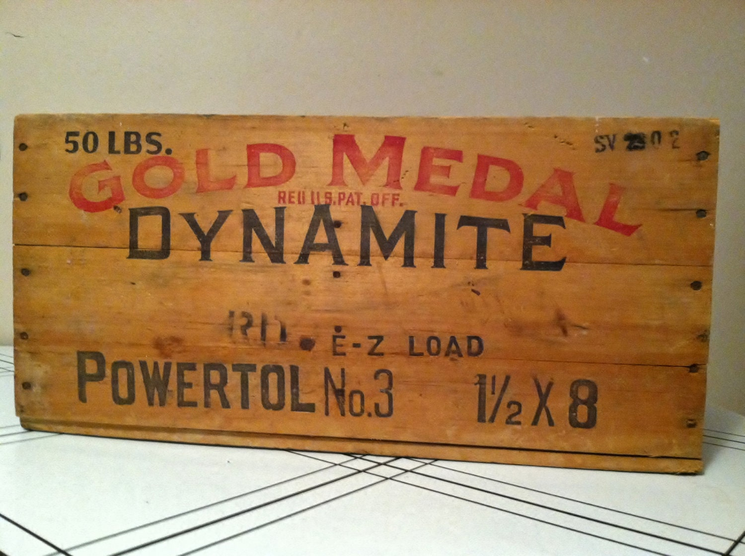 Gold Metal Dynamite Box