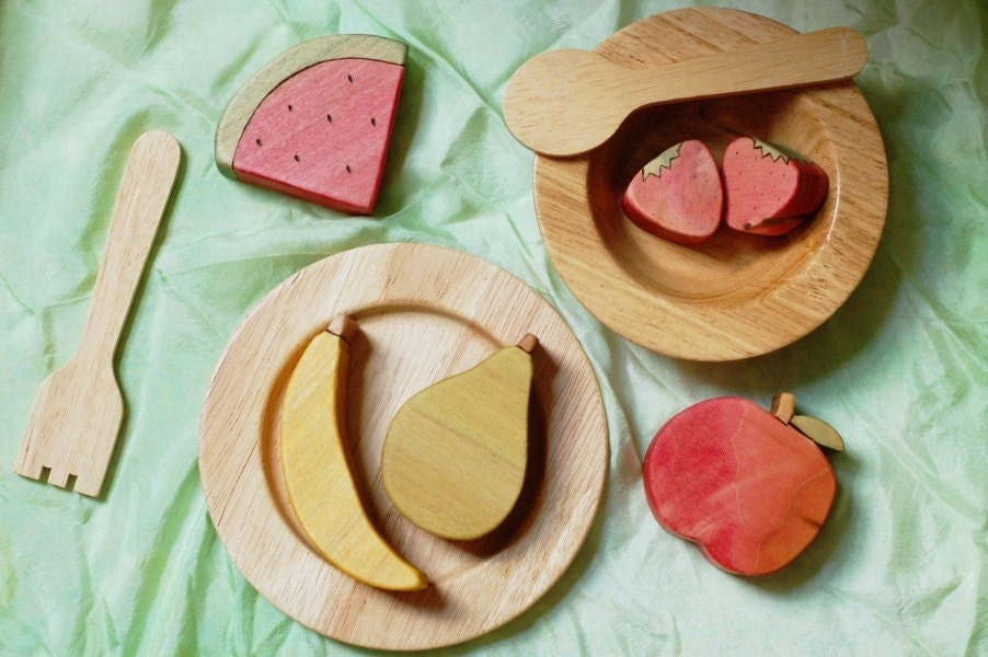 Wooden Fruit set - play food