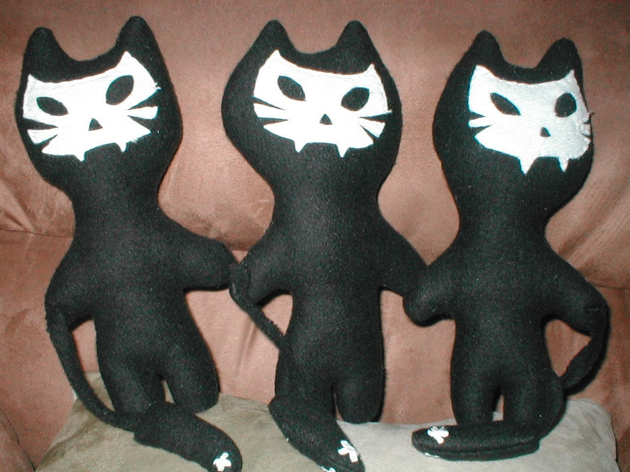 Ghost Dead Black Kitty stuffed toy