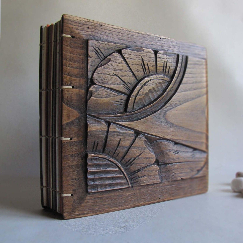 Wooden Wedding Album: Items Similar To Photo Album Scrapbook Wood Covers