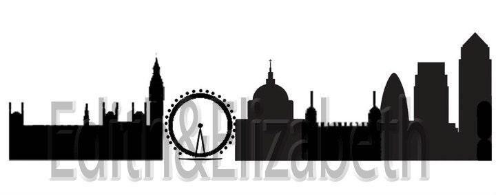 london skyline tattoo. London Skyline vinyl decal UK