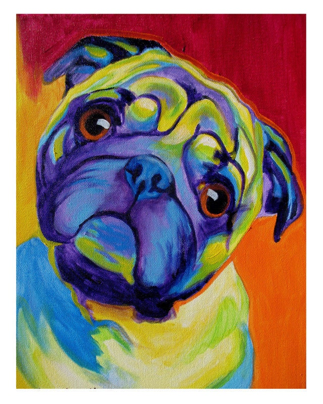 Colorful dog painting for Dog painting artist