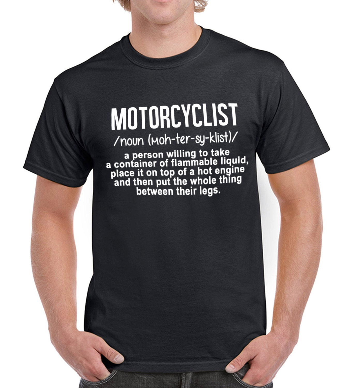 Motorcyclist Meaning T Shirt Motorcyclist T Shirt Funny Motorbike T Shirt Motorbike Rider T Shirt Mens Motorcyclist T Shirt