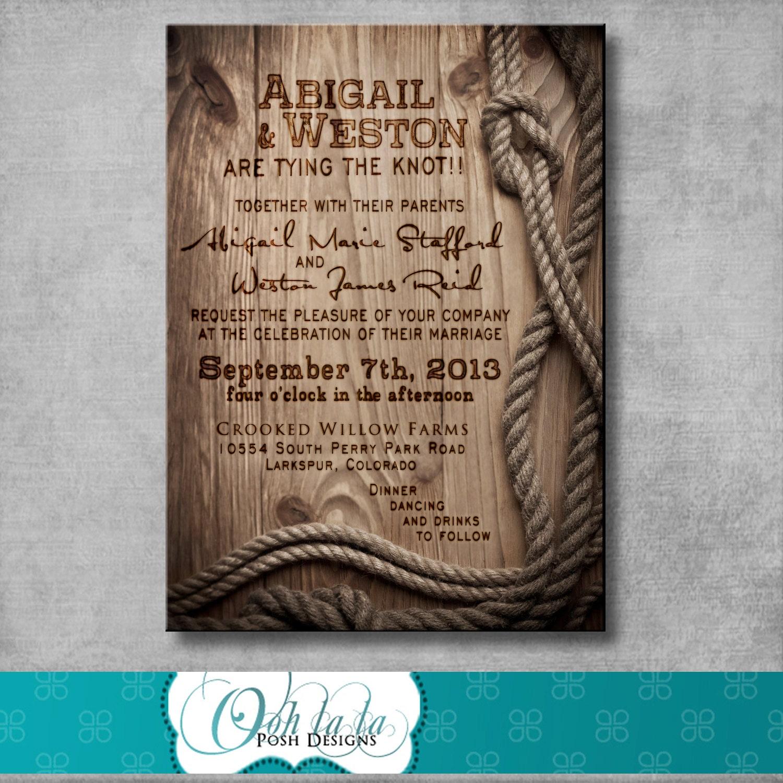 Country Wedding Invitations: Rustic Wedding Invitation DIY Printable By OohlalaPoshDesigns