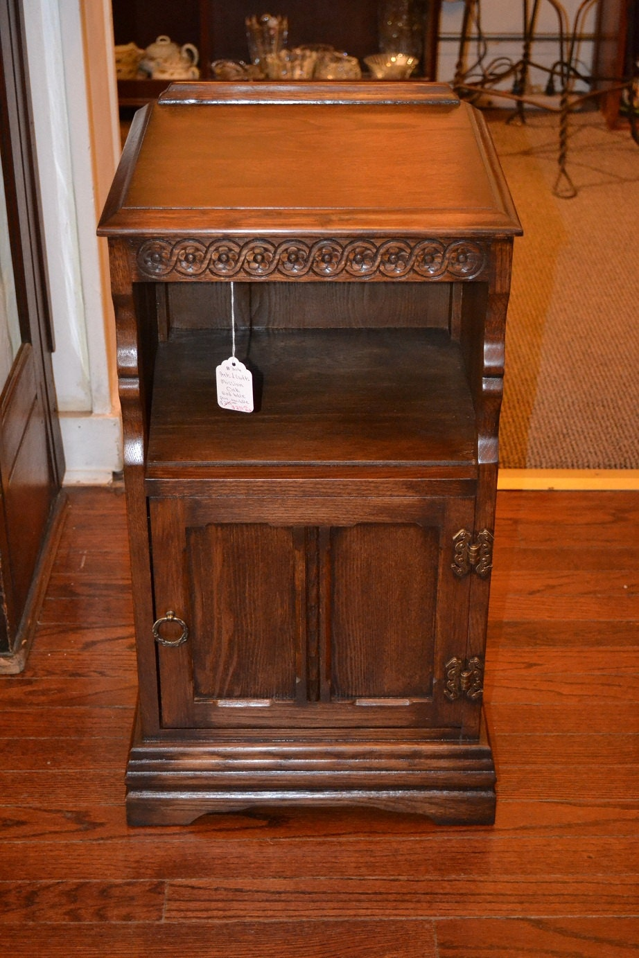 Items similar to mission oak telephone table smoke stand for 100 year old oak table