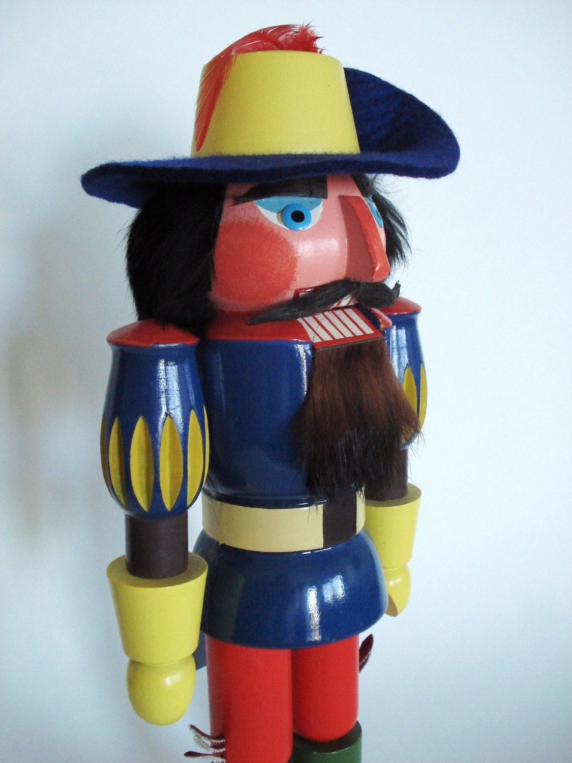 Vintage Ulbricht Muskateer Nutcracker German GDR 13in.