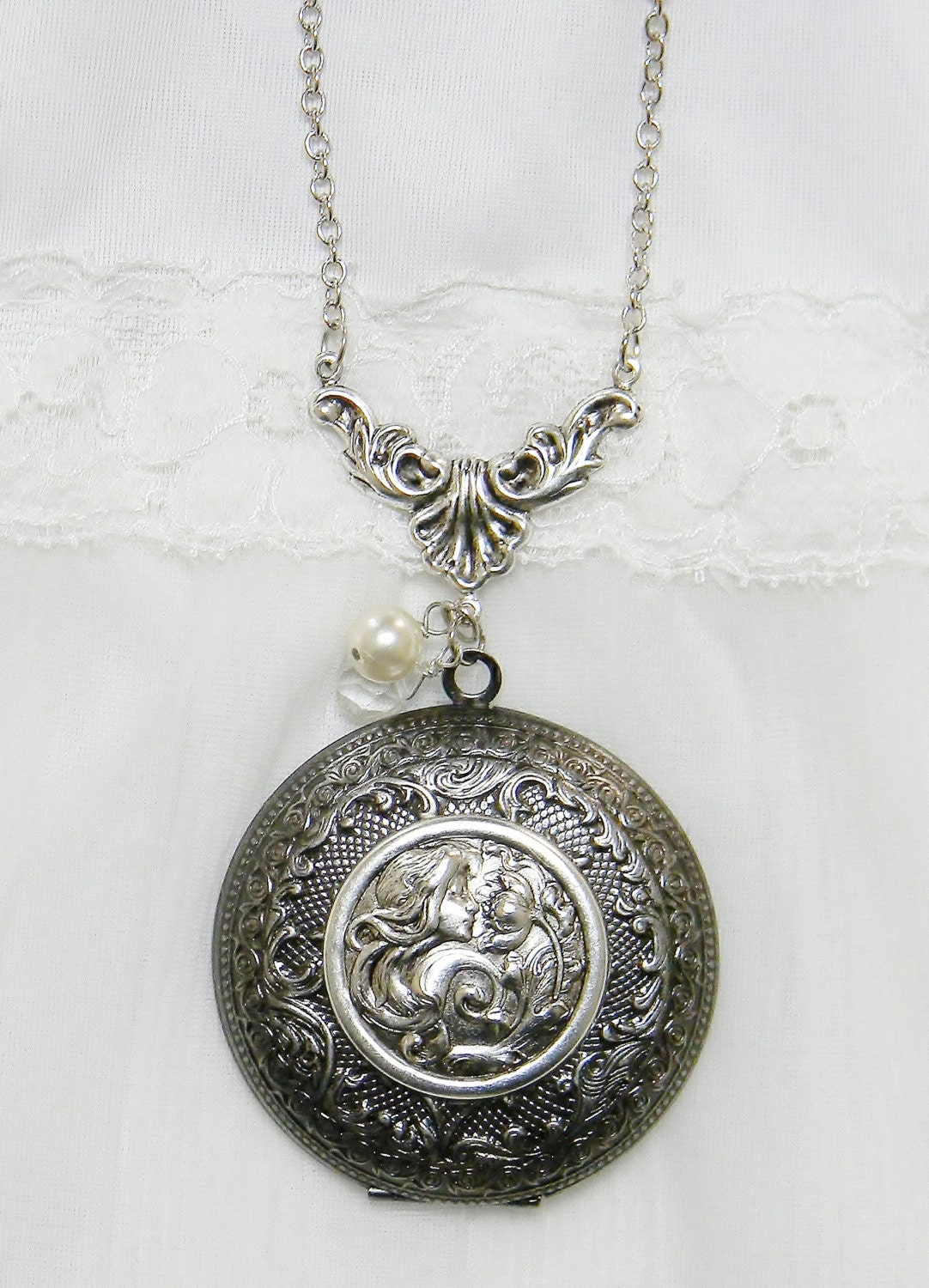 Solid Perfume Locket Necklace, Locket Necklace, Solid Perfume Necklace, Gift
