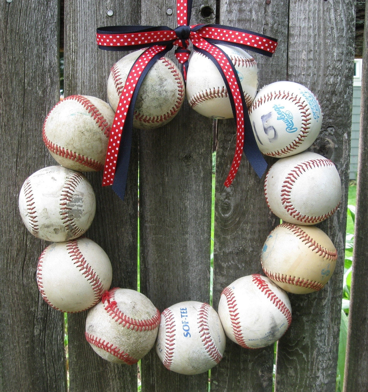 Boston Red Sox Baseball Love Wreath - Without Hat