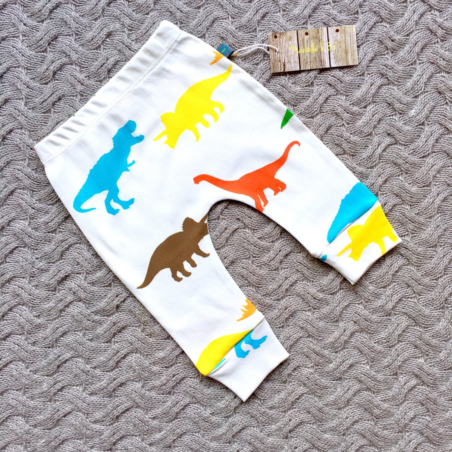 Baby clothes dinosaurs baby leggings organic baby clothes leggings baby trousers baby pants exclusive dinosaurs
