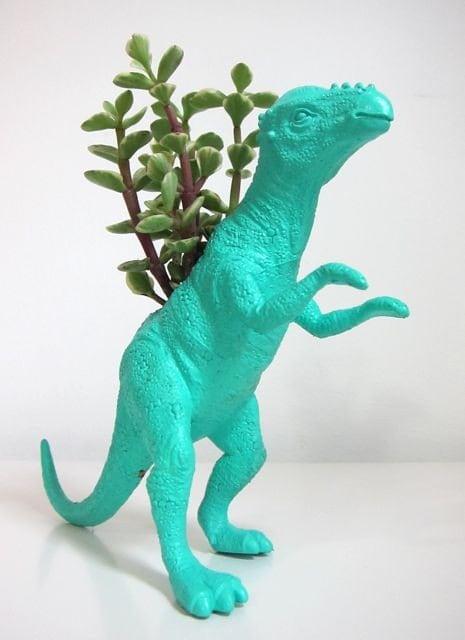 Monty the Pachycephalosaurus Planter & Succulent