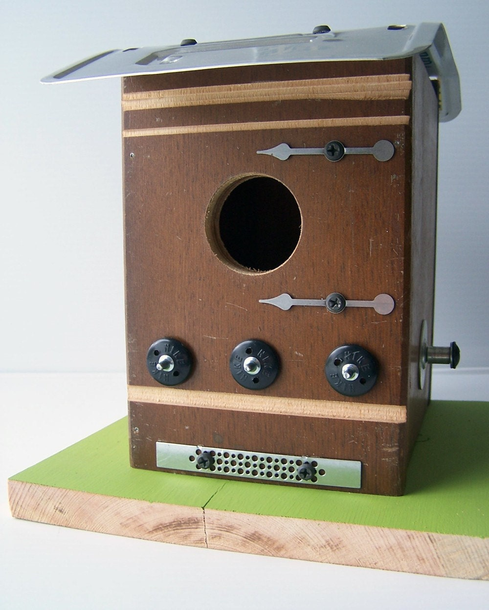 Steampunk Industrial Upcycled Handmade Birdhouse by Garageinc