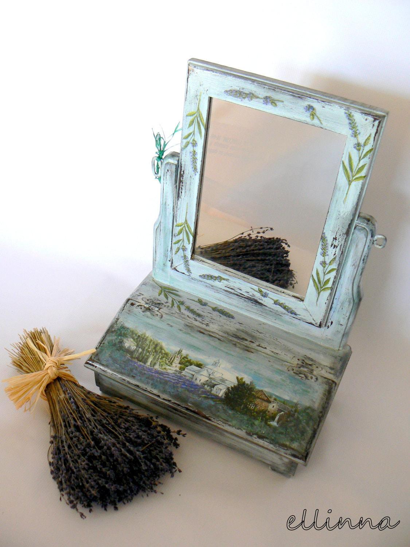 """Винтаж провансальском стиле туалетный столик с зеркалом """"французский шик"""""""