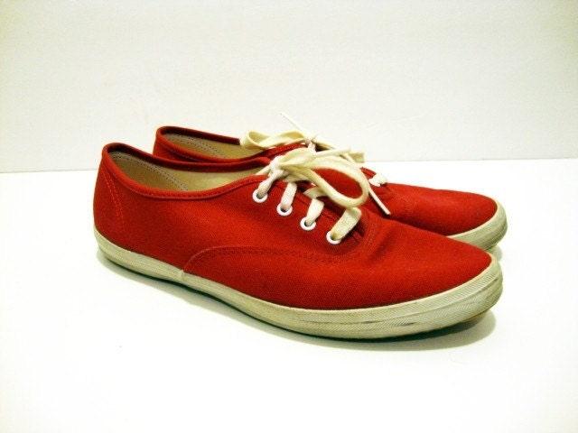 size 7 keds canvas tennis shoes by vintageintersection