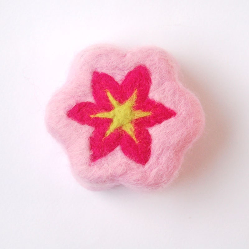 Pink Flower ( Felted Lavender Soap )