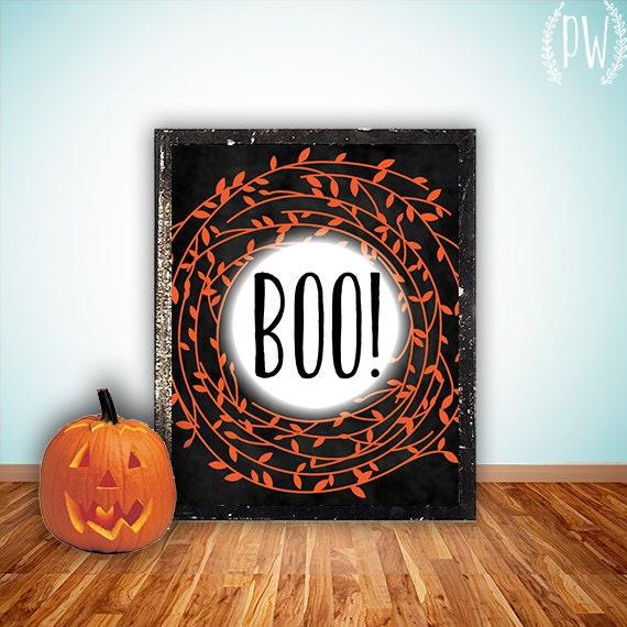 Wall Decor Halloween : Halloween printable art print wall digital by