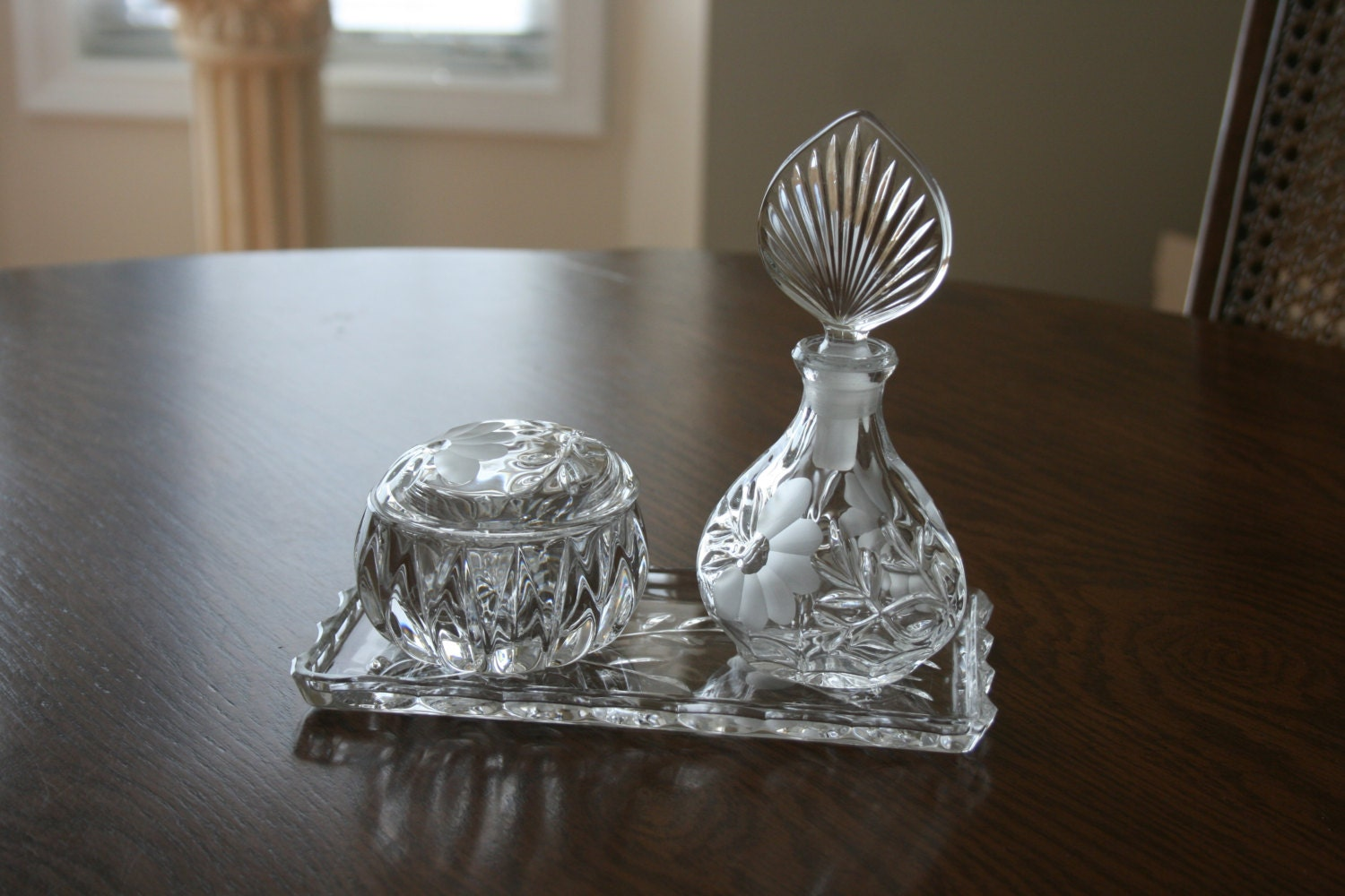 Vintage Princess House Crystal Vanity Set By Novembermountain