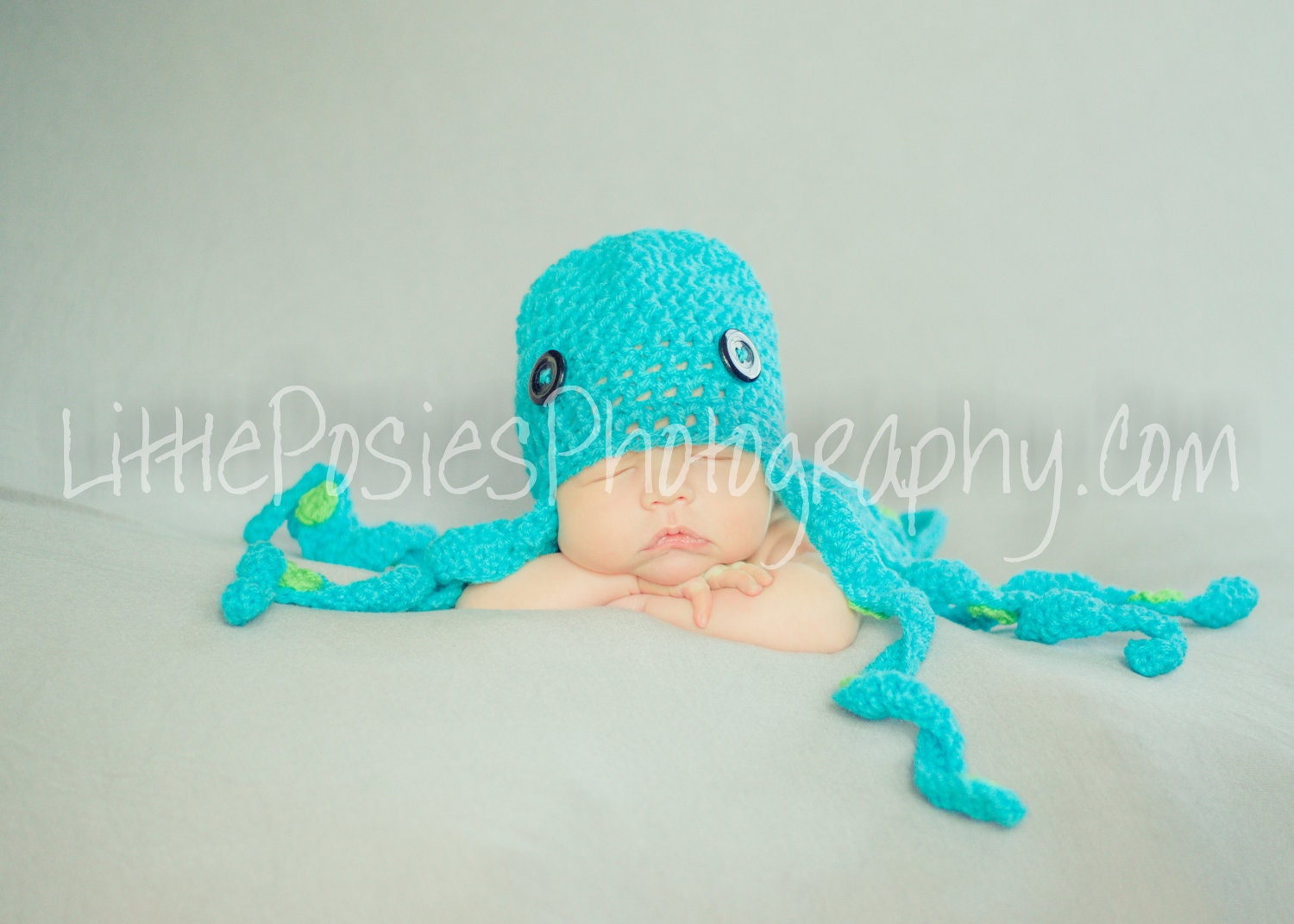 Crochet Octopus Hat : Crochet Octopus Baby Hat Beanie Photo Prop by JustForBabyWithLove