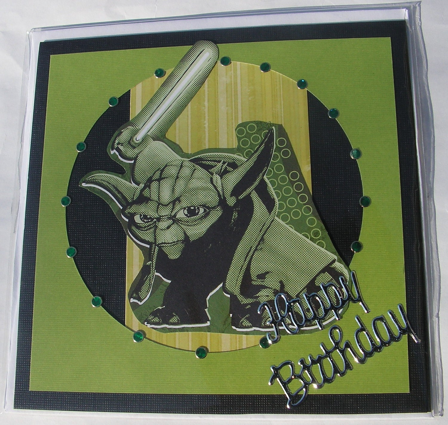 Yoda Birthday Greeting Card By PlaysNicelyWithPaper On Etsy