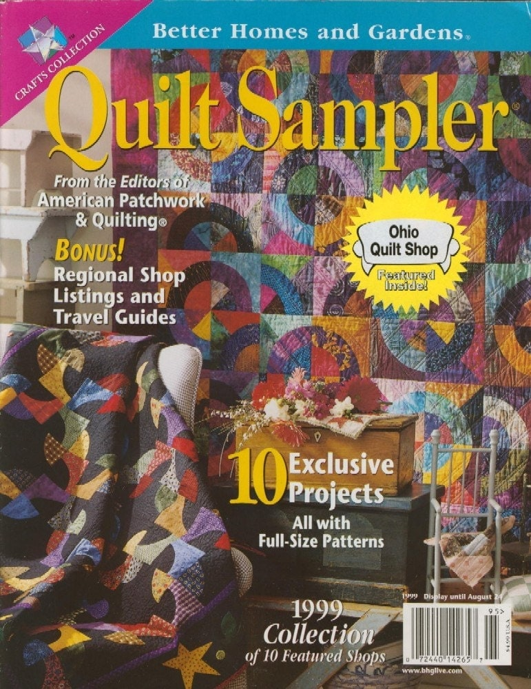 Quilt Sampler Magazine Back Issue From Better By