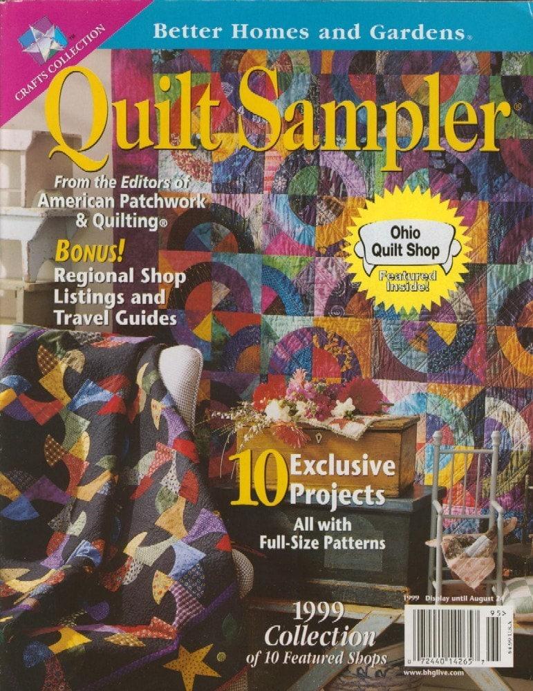 Quilt Sampler Magazine Back Issue From Better By Greatlakestate