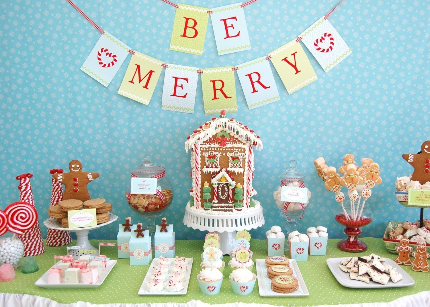 Gingerbread Christmas Cookie Printable Party Collection - DIY, SALE