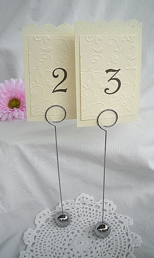 Table card holder wedding place card reusable by for Place settings name card holders