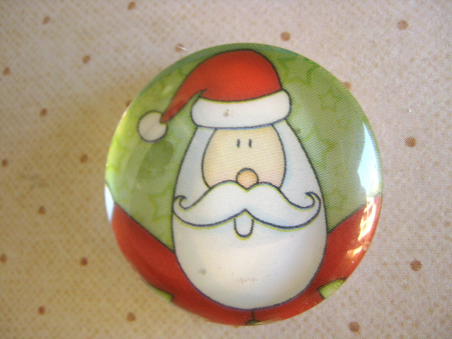 Glass magnet - Santa