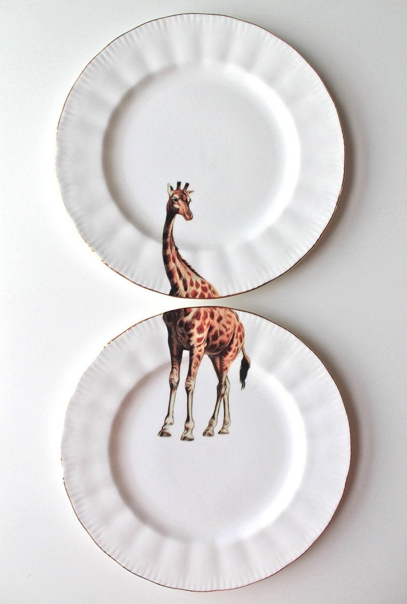 Giraffe plates - yvonneellen