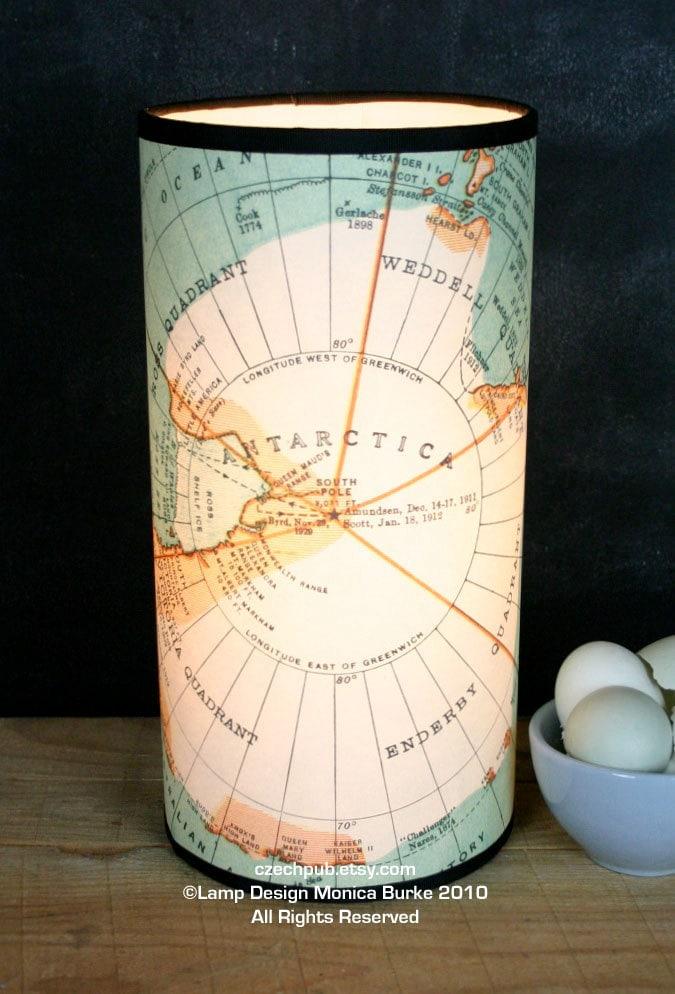 Винтаж Антарктиды Карта ЛАМПЫ