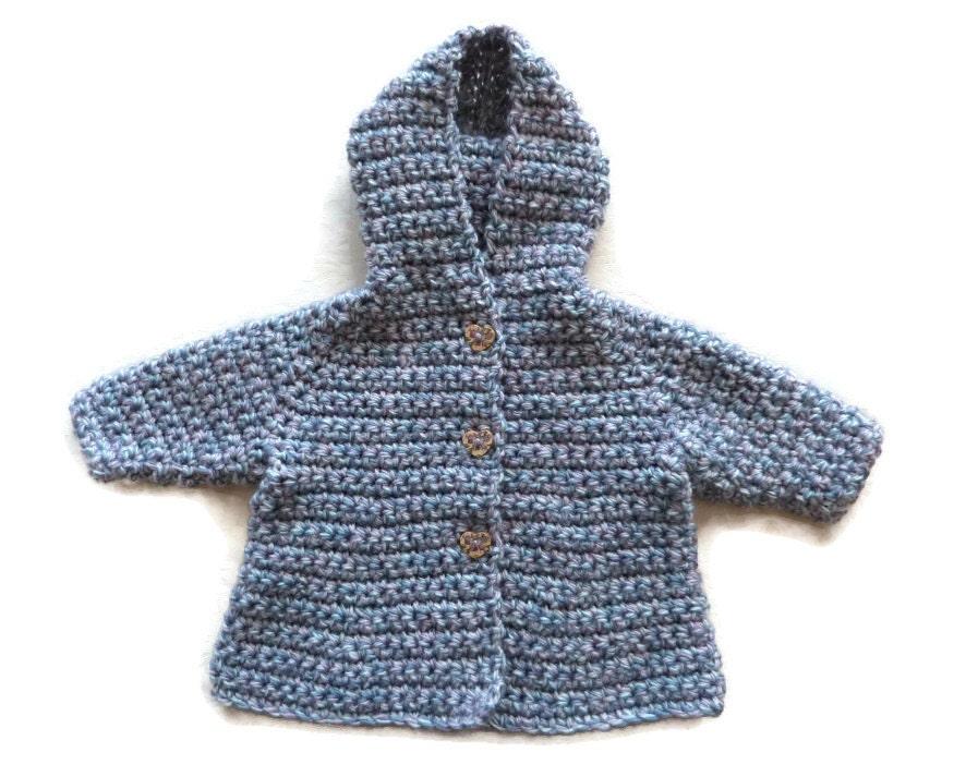 Merino wool baby girl hooded coat baby sweater jacket cardigan hoodie pastel blue pink. Newborn 034 months