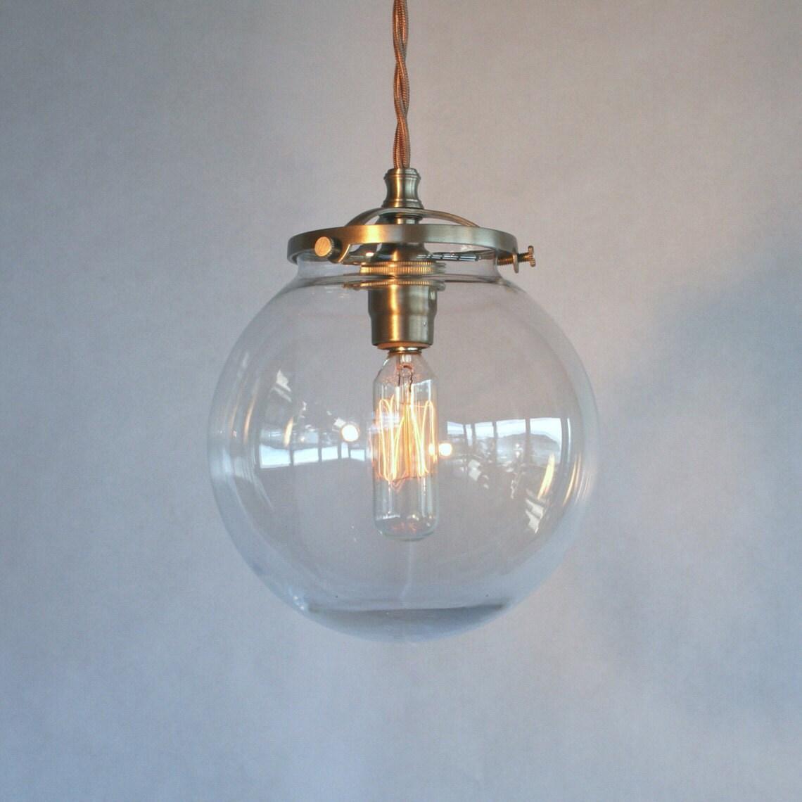 Modern Globe Pendant Lighting : Clear globe pendant light modern by sanctumlighting