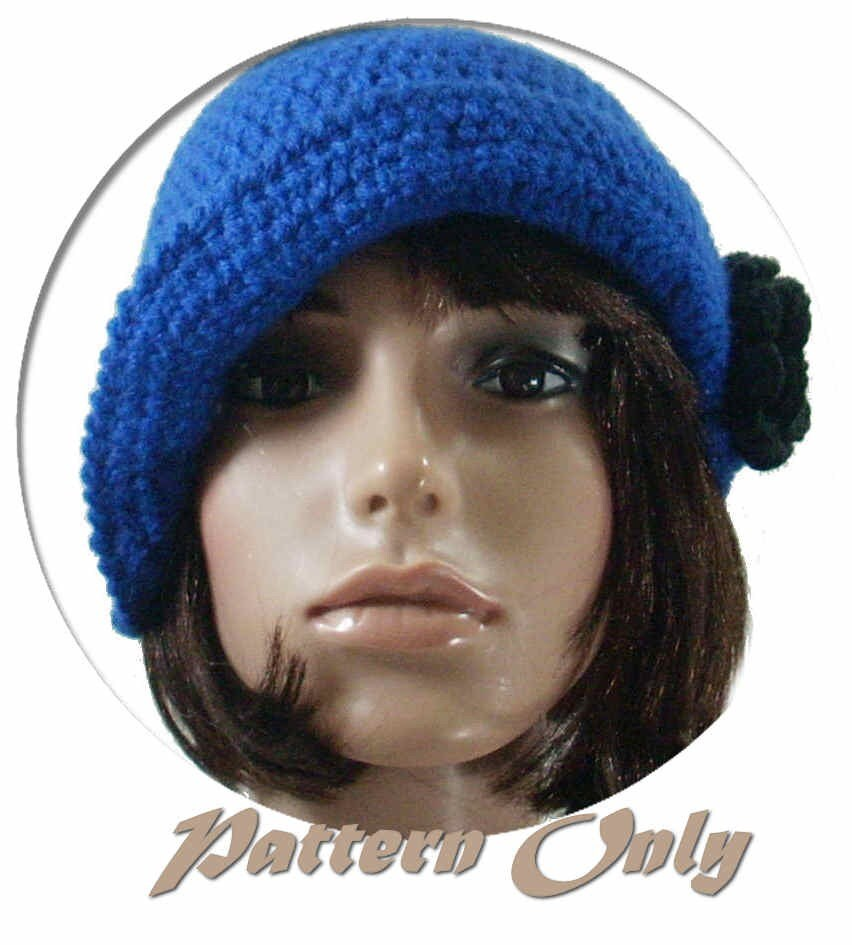 PDF Crochet Pattern for Flapper Cloche by stubbornwoman on Etsy
