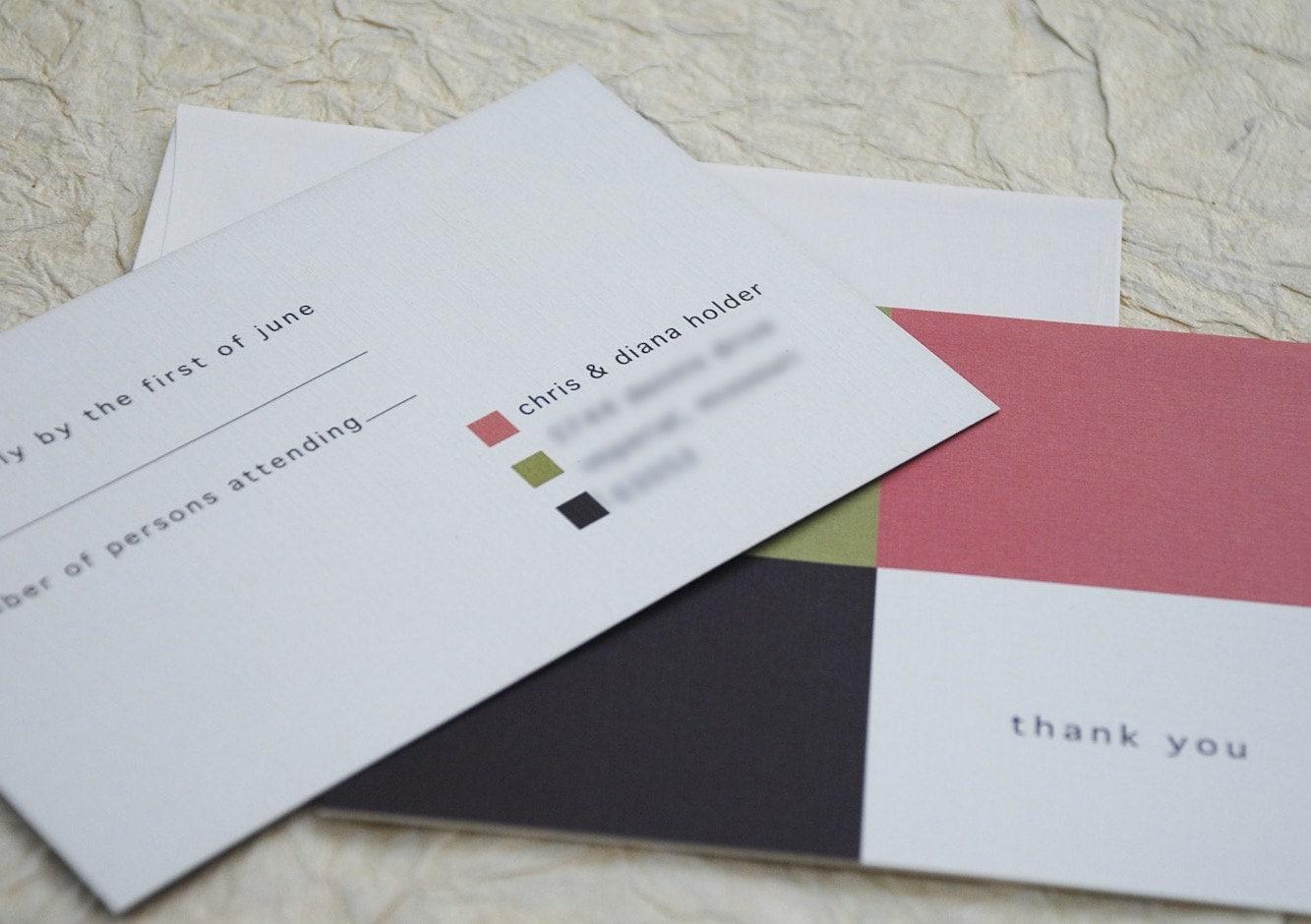 Deposit - Modern Squares Layered Wedding Invite